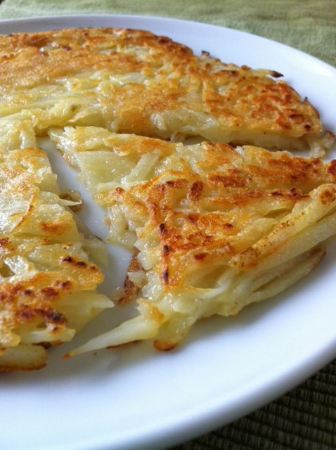チーズ風味のじゃがいものガレット