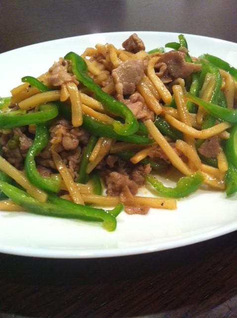 簡単な作り方の青椒肉絲