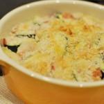 ズッキーニのチーズパン粉焼き