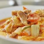 白菜と鶏のトマト煮