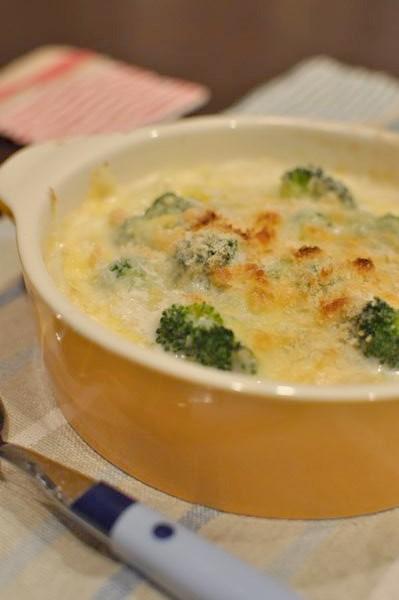 エビとブロッコリーのスープグラタン
