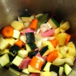 ゴロゴロ野菜のミネストローネ