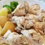 鶏肉とにんにくのハーブ煮込み