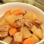 鶏肉と大根の黒酢煮