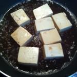 豆腐の揚げ玉卵とじ