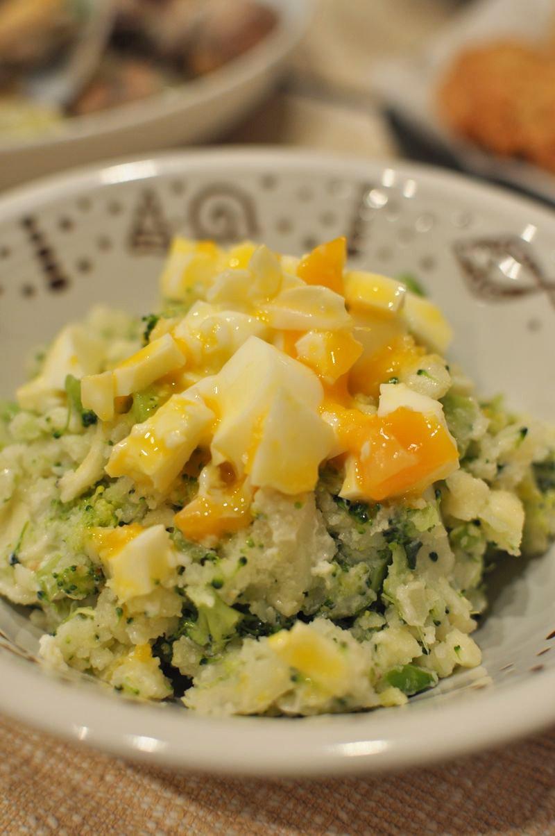 ブロッコリーと半熟卵のポテトサラダ