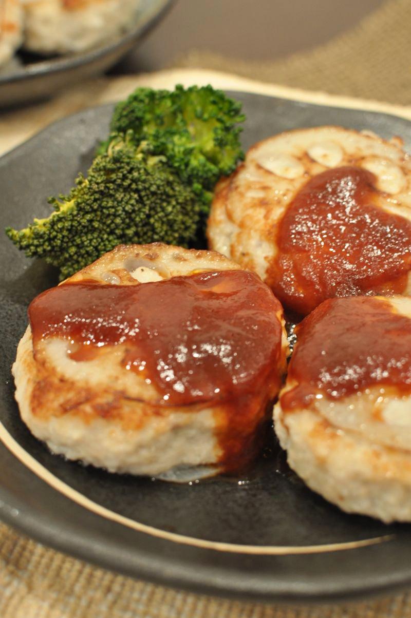 鶏ひき肉のレンコンハンバーグ
