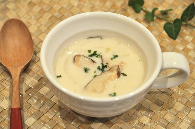 早うま!濃厚干し椎茸のクリームスープ