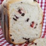 ホームベーカリーでいちご風味のミックスベリー食パン