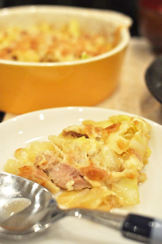 キャベツとツナの和風チーズ焼き